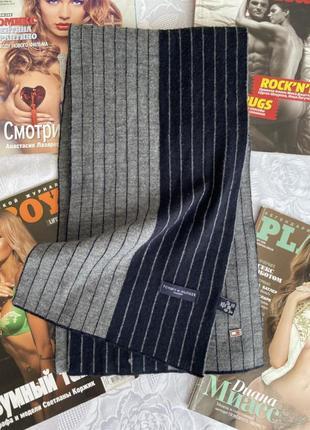 Чоловічий шарф в полоску tommy hilfiger шерсть/акріл, ідеал🔥