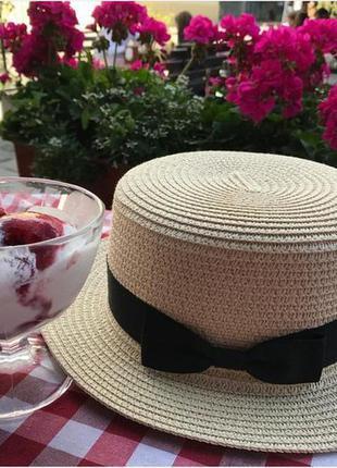 Супер цена♡модная соломенная шляпа канотье - тренд 2020!