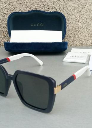 Gucci очки женские большие черные