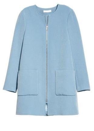 Пальто классическое на подкладке h&m р. 44