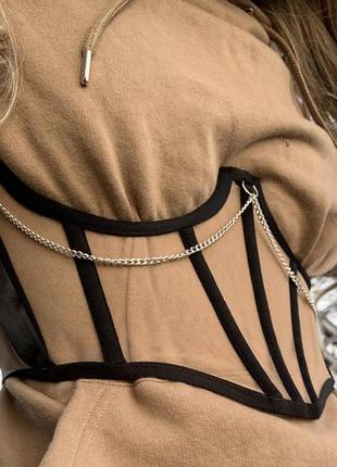 Пояс -корсет с цепочкой на рубашку