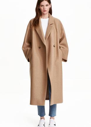 Пальто oversize от  h&m premium quality шерсть 100%