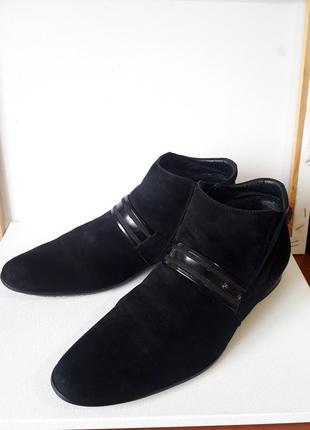 Зимние, натуральные ,замшевые ,утепленные туфли