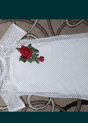 Белое платье -сетка