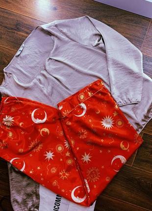 Женская атласная/шелковая пижама/одежда для дома и сна большого размера