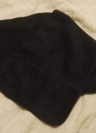Флісовий шарф чорний
