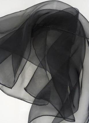 Черный газовый платок