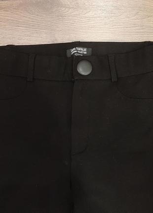Леггинсы штаны брюки черные женские зара высокая талия