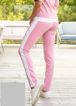 Женские брюки с лампасами2 фото