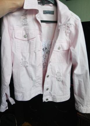 Джинсовая куртка пудра montego