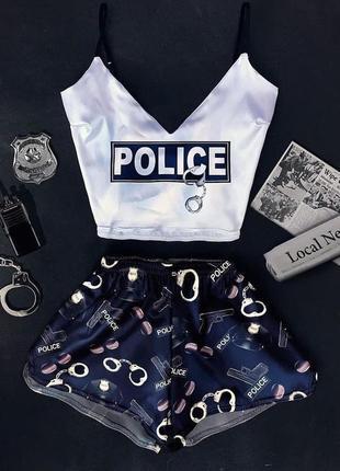 Шелковая пижама полиция
