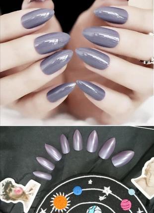 Комплект накладных ногтей 24 шт. миндалевидной формы