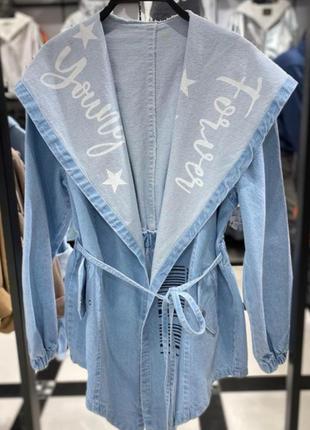 Джинсова рубашка кардиган куртка