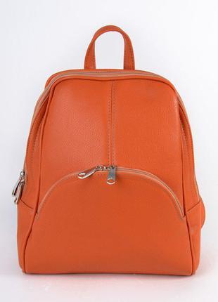 Оранжевый женский городской рюкзак на молнии