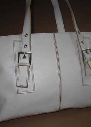 Большая  кожаная сумка немецкого бренда tcm tchibo
