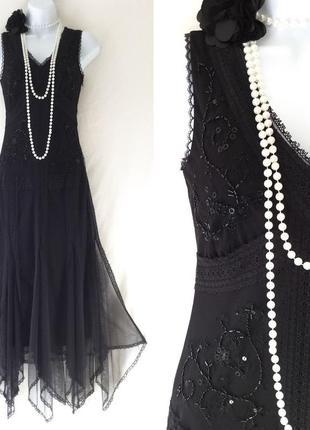 87c9d6411cb ... Черное платье в стиле чикаго 30-х