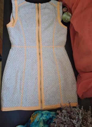 Теплое плотное платье коттон
