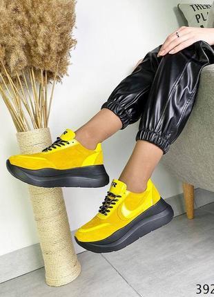 Кожаные кроссовки демисезонные