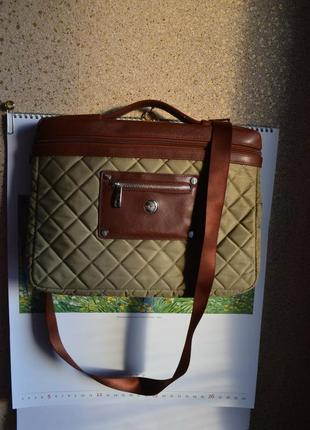 Knomo мужская сумка портфель кейс на длинном ремне.