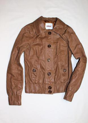 Only кожаная  куртка из натуральной свиной кожи