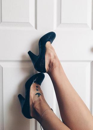 Туфли лодочки с круглым носком