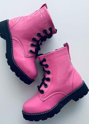 Ультрамодные лаковые ботинки 🔥 🌸🌸 h&m 👞 🍂размер 28 (18 см ) оригинал ❗