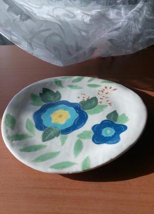 Тарелка керамика ручная работа