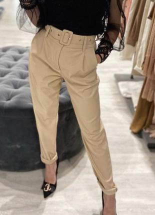 Vanessa scott брюки экокожа