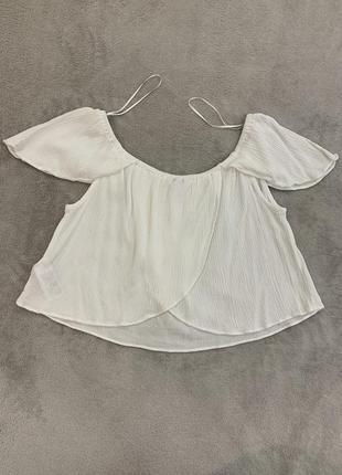Кроп топ, укорочённая блуза с красивой спинкой topshop