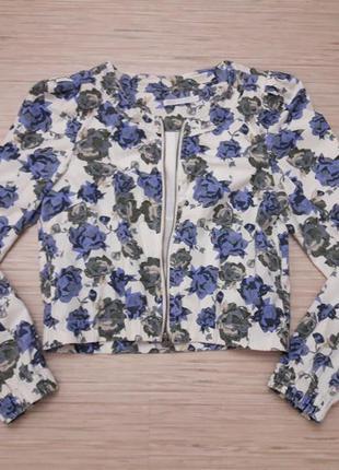 Жакет пиджак в цветочный принт only