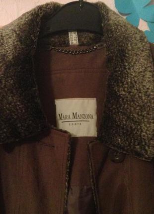 Пальто коричневое xxl-50-52-54р. mara manzona германия