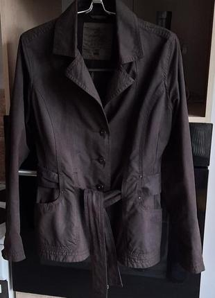 Пиджак жакет лёгкая куртка коричневый