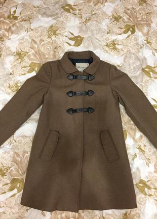 Пальто куртка pull&bear коричневое