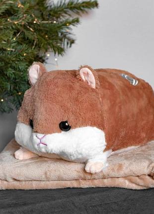 Игрушки подушки хомяк