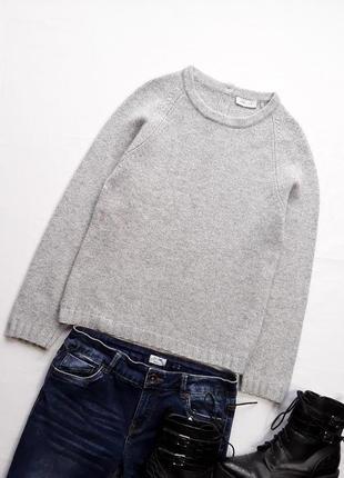 Шерстяной свитер с застежкой на спине kew•159