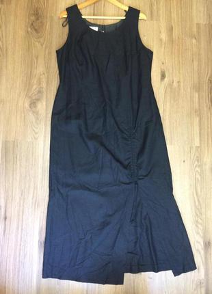 Эффектное натуральное платье.большой размер 50