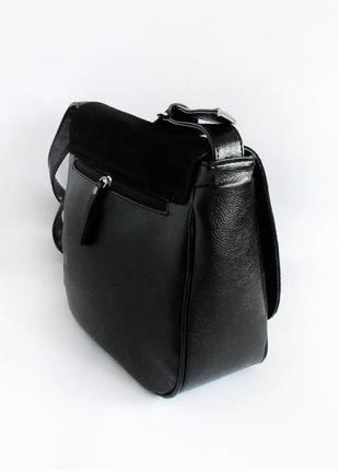 Молодежная женская сумочка на плечо замшевая планшетная2