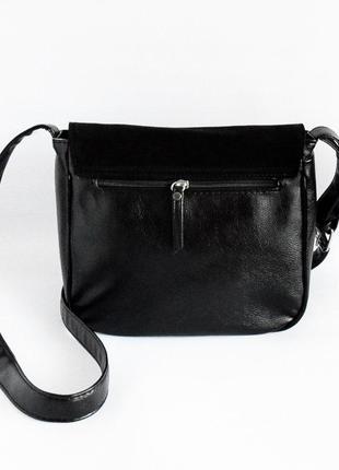 Молодежная женская сумочка на плечо замшевая планшетная3