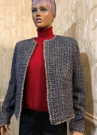 Теплый пиджак/жакет - смесовая шерсть, mango, размер xl