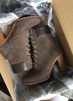 Сапоги ботинки на шнуровке timberland нубук