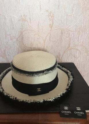 Шляпа канотье люкс