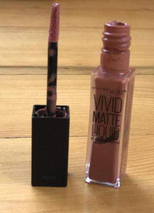 Maybelline color sensational vivid matte liquid, nude thrill 50