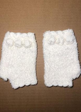 Перчатки без пальцев митенки