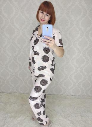 Бавовняна жіноча піжама. молодіжна жіноча піжама