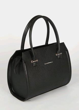 Деловая классическая матовая сумка женская саквояж