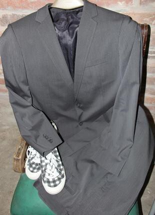 Шерстяной брючный костюм