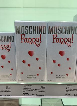 Духи парфюм moschino funny оригинал 50ml
