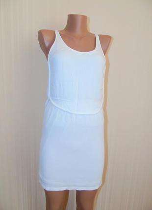 Красивое белоснежное платье от zara
