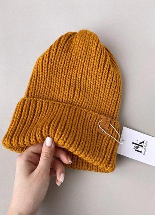 Зимняя шапка из мериноса