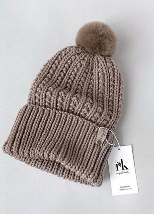 Зимняя шапка меринос